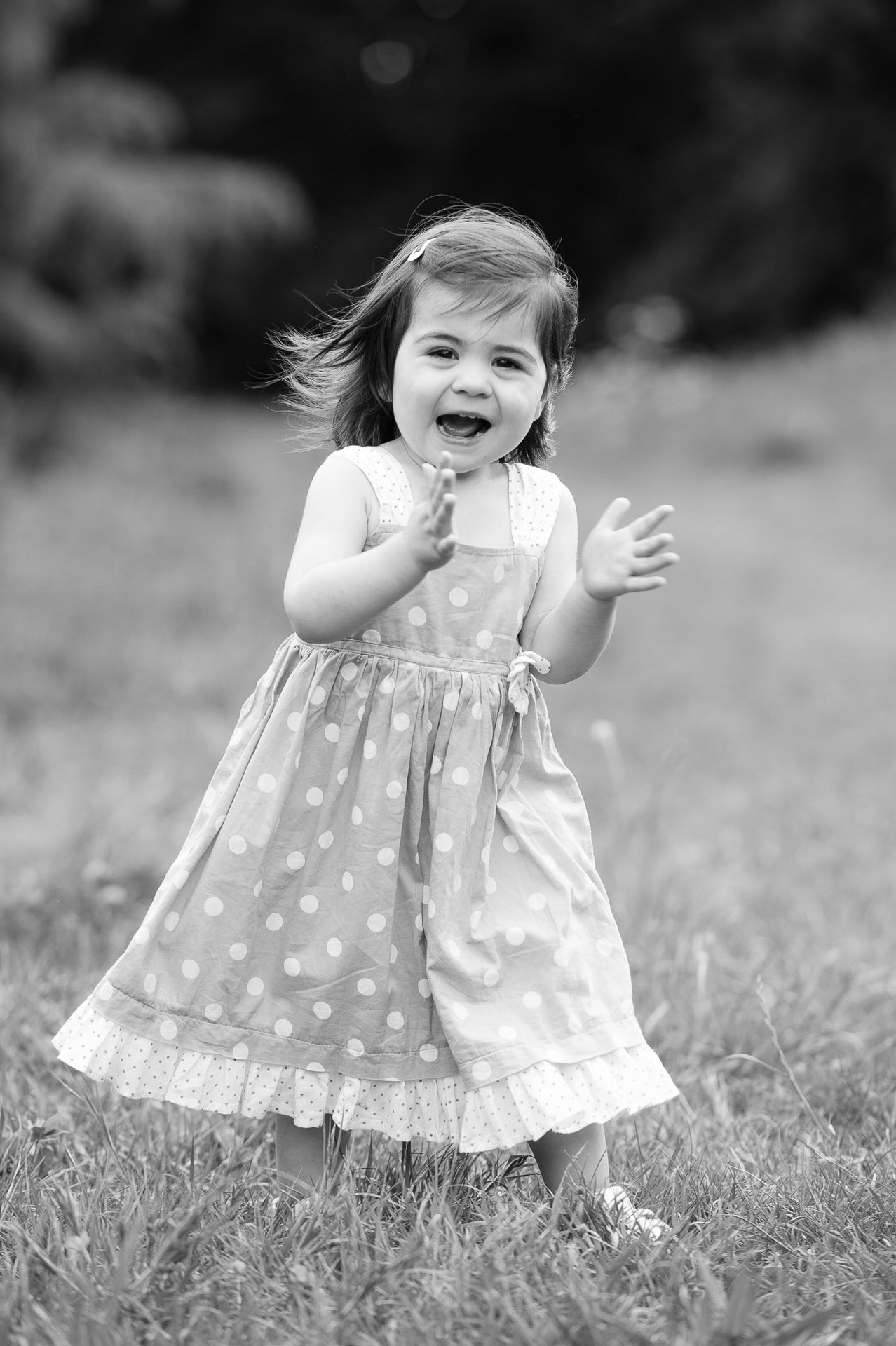 Location portrait of little girl happy