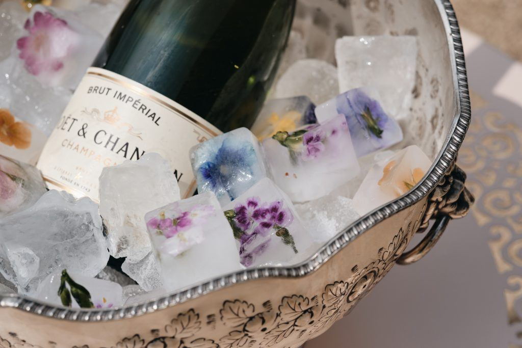 Champagne and ice