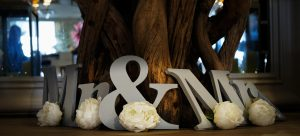 Mr and Mrs wedding detail photo