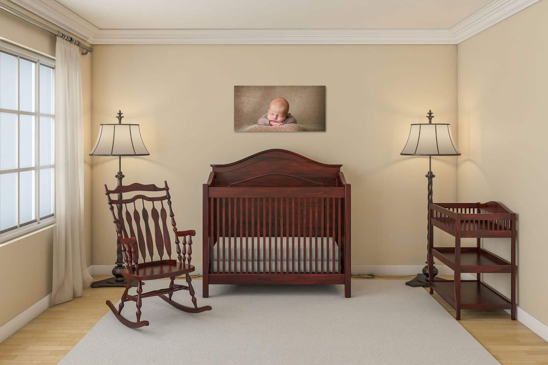 nursery-with-newborn-wallart